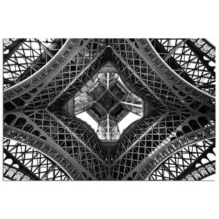 Modern Home 'Paris Eiffel Tower 1' Ultra-high Resolution Tempered Glass Wall Art