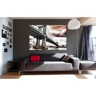 Modern Home New York Brooklyn Bridge 1 Ultra-high-resolution Tempered Glass Wall Art