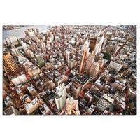 Modern Home Tempered Glass Ultra High-resolution New York Skyscrapers Wall Art