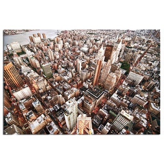 Modern Home Tempered Glass Ultra High-resolution New York Skyscrapers Wall Art