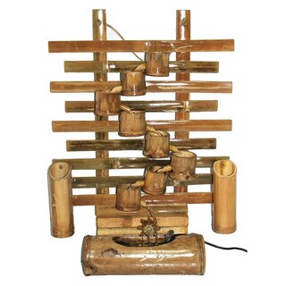 Bamboo Natural Finish Authentic Water Fountain