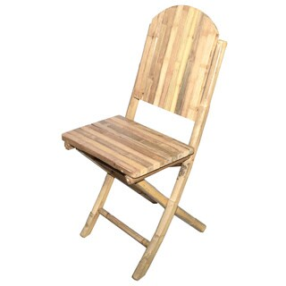 Bamboo Folding Chairs (Set of 2)