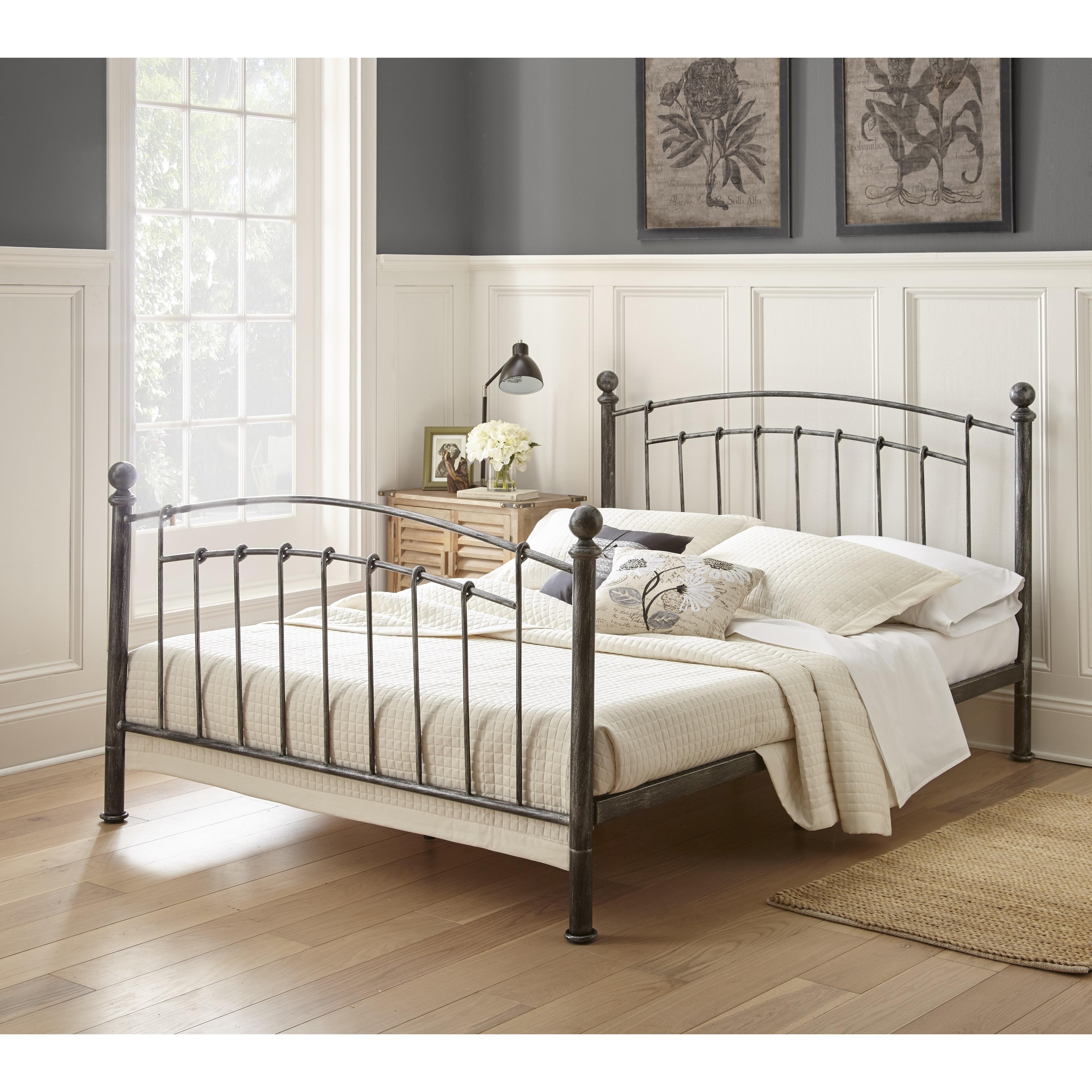 Sleep Sync Medina Metal Platform Bed (Queen), Black