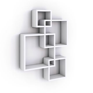 Danya B Intersecting Cube Shelves - White