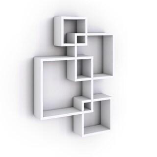 porch u0026 den montclair myrtle white laminate cube shelves