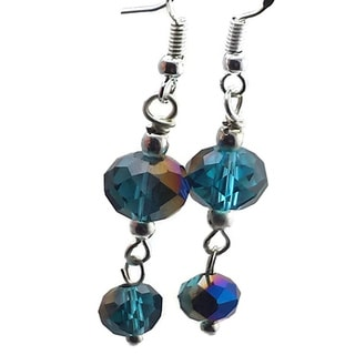 Mama Designs Sterling Silver Handmade Drop-style Blue Earrings