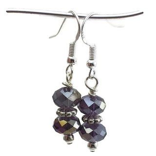 Mama Designs Sterling Silver Handmade Beaded Drop-style Earrings