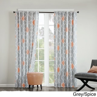 INK+IVY Nile Diamond Geo Cotton Printed Curtain Panel