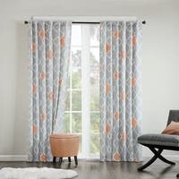 INK+IVY Nile Diamond Geo Cotton Printed Curtain Panel