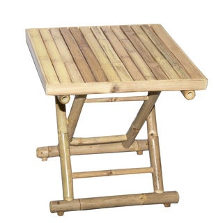 Natural Bamboo Square Folding Table