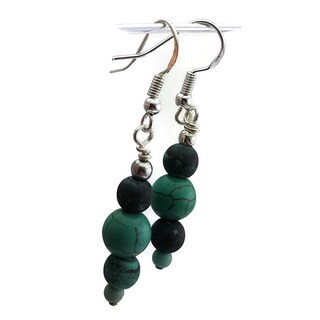 Mama Designs Beaded Sterling Silver Handmade Drop Style Earrings