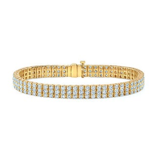 14k Yellow Gold 6 4/5ct TDW Diamond Tennis Bracelet (H-I, VS1-VS2)