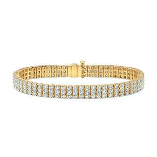 14k Yellow Gold 6 4/5ct TDW Diamond Tennis Bracelet
