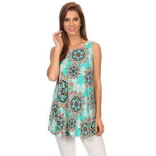 MOA Collection Women's Ornate Sleeveless Top