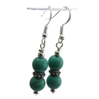 Mama Designs Handmade Beaded Sterling Silver Drop-style Earrings