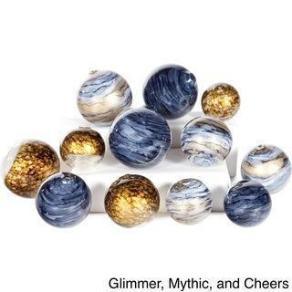 Hand Blown Glass Spheres (Set of 12)