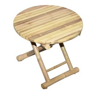 Bamboo54 Natural Bamboo Round Folding Table