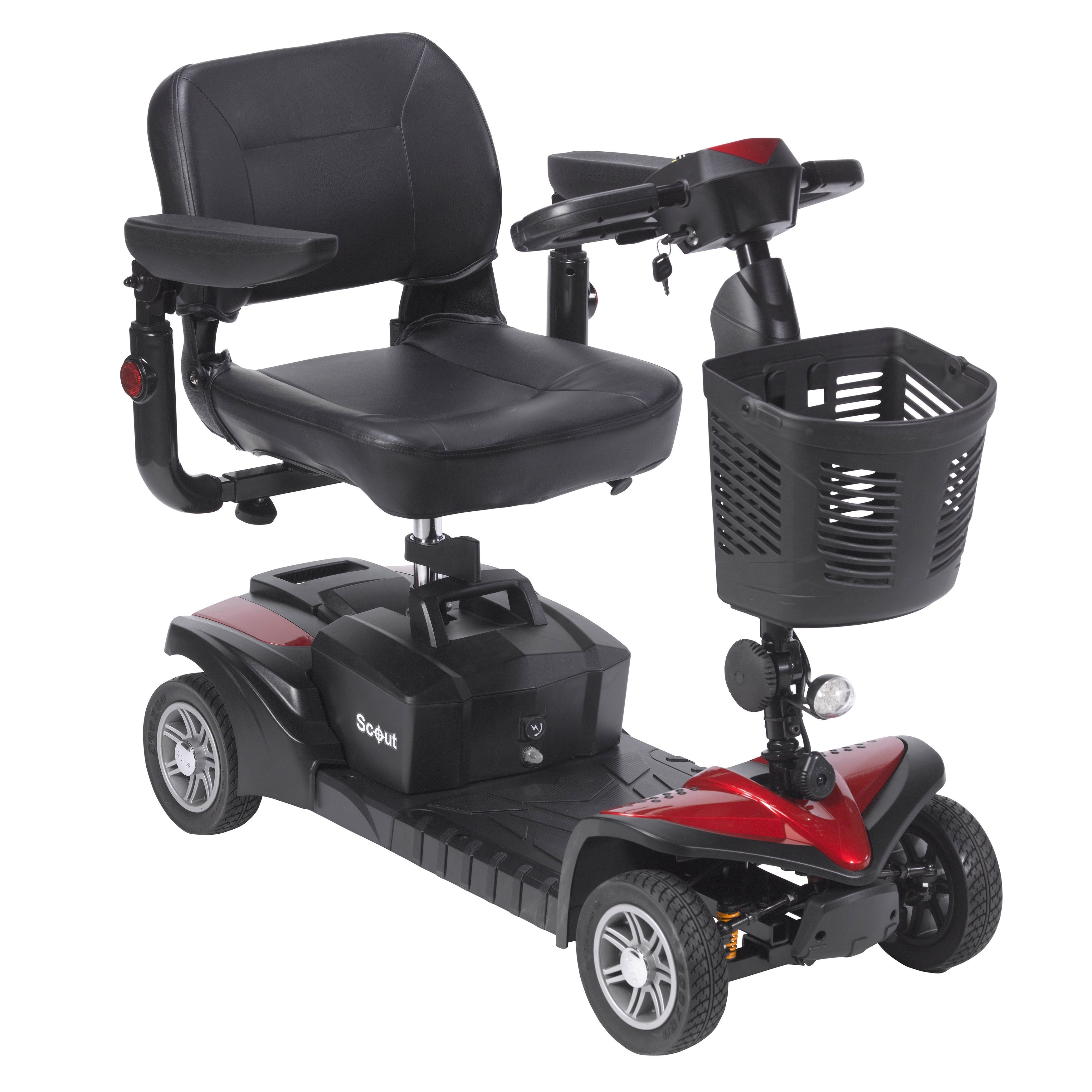Drive Medical Scout DST 4-wheel Travel Scooter, Grey meta...