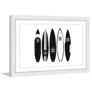 Marmont Hill 'Chanel Surfboards' Framed Painting Print