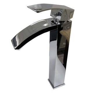 Tuglea 8028 Silver Brass 7-inch Single-hole Single-handle Bathroom Faucet