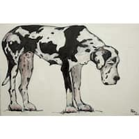 Marmont Hill 'Great Dane' Painting Print on Wrapped Canvas - Multi-color