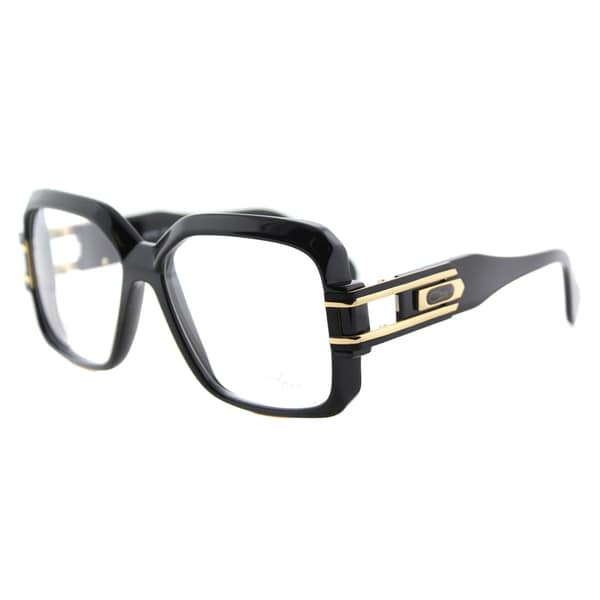7bdf20abfe9 Cazal Cazal 623 001 Legends Shiny Black Gold Plastic 57-millimeter Square  Eyeglasses