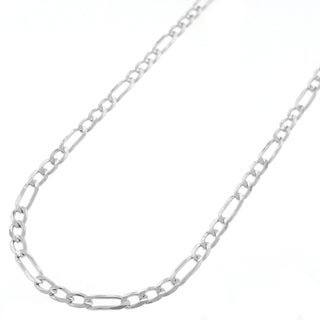 .925 Sterling Silver 3-millimeter Solid Figaro Link ITProLux Necklace Chains