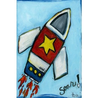 Marmont Hill 'Soar Rocket' Painting Print on Wrapped Canvas