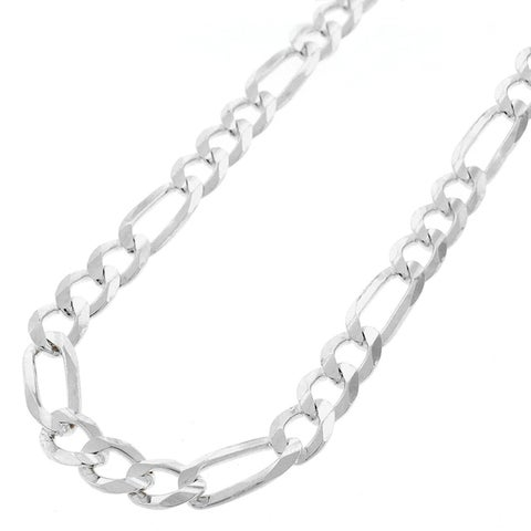 """Sterling Silver Italian 7mm Figaro Link ITProLux Solid 925 Necklace Chain 18"""" - 30"""""""