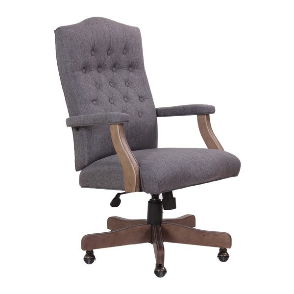 Boss Office Products Grey Driftwood High Back Executive Swivel Chair