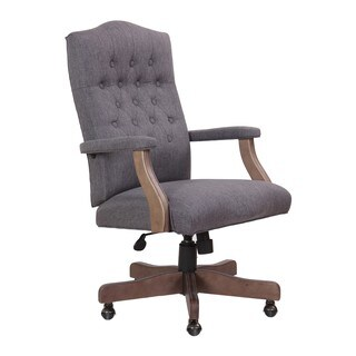 Boss Office Products Grey Driftwood High-back Executive Swivel Chair