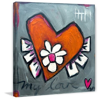 Marmont Hill 'My Love Heart' Painting Print on Canvas