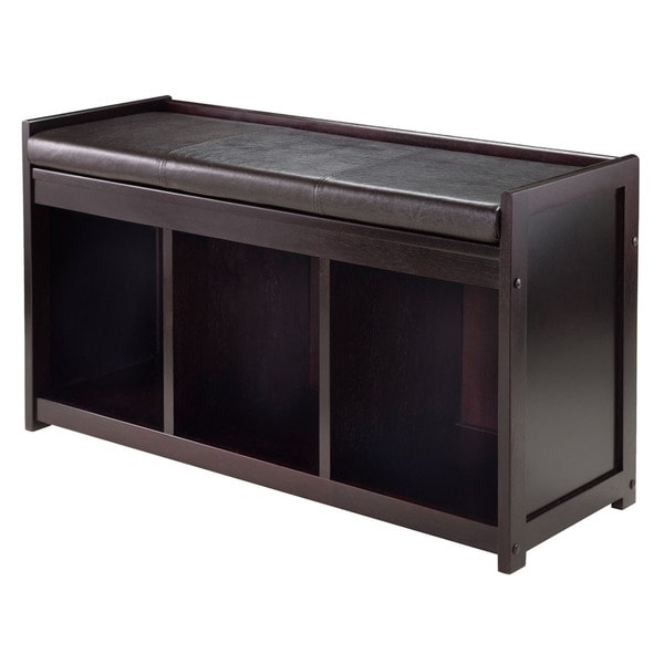 Winsome Addison 2 Piece Storage Bench With Cushion Seat