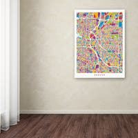 Michael Tompsett 'Denver Colorado Street Map 2' Canvas Art - Multi