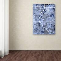 Michael Tompsett 'Denver Colorado Street Map B&W' Canvas Art