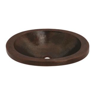 Unikwities Bronze Copper Single-basin Oval Vessel Sink