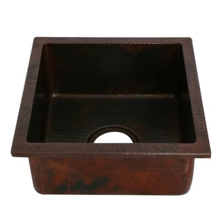 Unikwities Oil Rubbed Bronze Copper Undermount Vegetable/Bar Sink