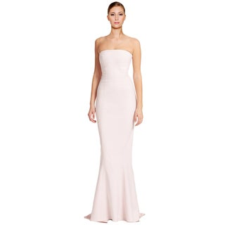 Elizabeth and James Pink Kendra Strapless Long Formal Evening Gown Dress Size 00