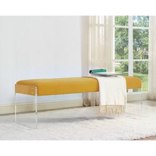 Sunshine Pebbled Velvet Bench https://ak1.ostkcdn.com/images/products/12015711/P18891307.jpg?impolicy=medium