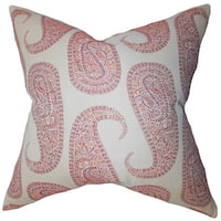 Amahl Paisley Throw Pillow Cover