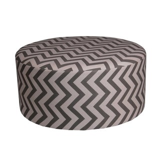 Privilege Transitional Brown/Off-white 36-inch Round Ottoman