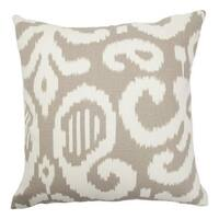 Teora Ikat Throw Pillow Cover Fog
