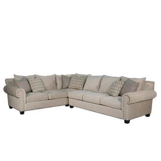 Valley Springs Light Grey Fabric RAF 2-piece Sectional Sofa