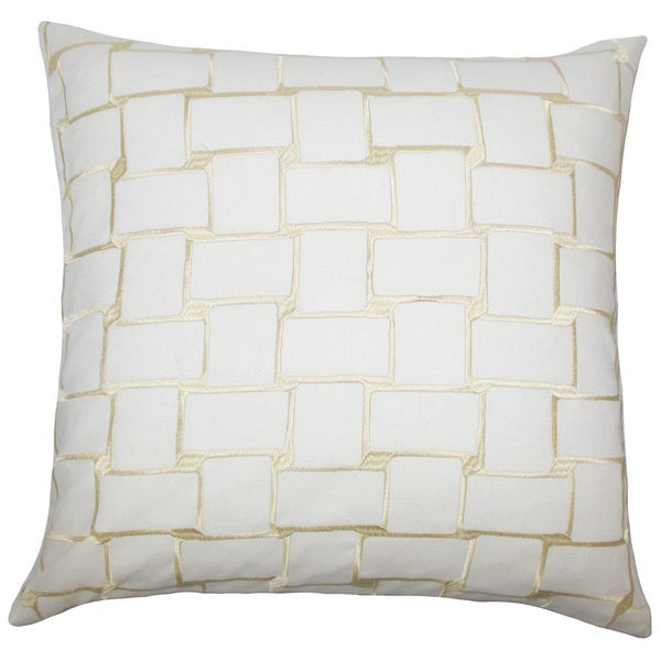Kalyca Geometric Throw Pillow Cover Buff