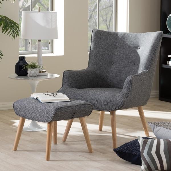 Shop Baxton Studio Alkyone Mid Century Grey Armchair And