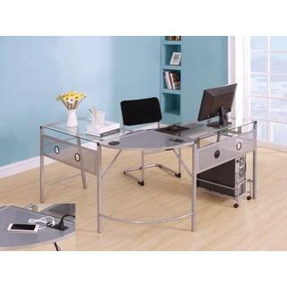 Brielle Silver Computer Desk
