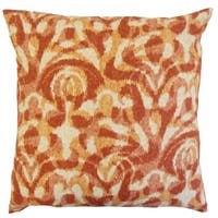 Coretta Ikat Throw Pillow Cover Persimmon