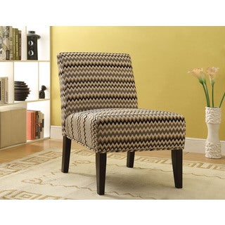 Aberly Espresso Fabric Accent Chair