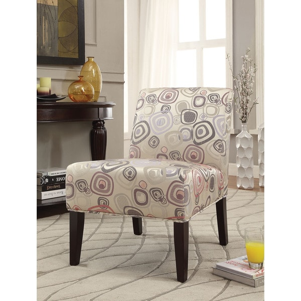 Aberly Multicolored Fabric Rubberwood Accent Chair Free