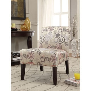 Aberly Multicolored Fabric/Rubberwood Accent Chair